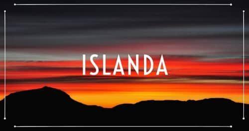 Tramonto dal vulcano Askja in Islanda