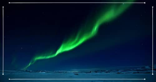 Aurora Boreale in Islanda a febbraio