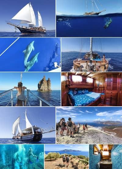 Immagini Eolie in barca a vela