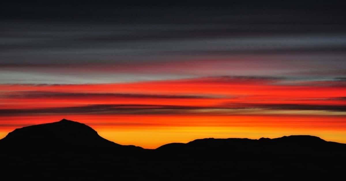 Islanda - Luce notturna al vulcano Askja